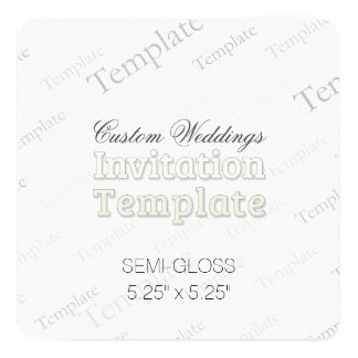 "5.25"" x 5.25"" Semi Gloss Custom Wedding Invitation 5.25"" Square Invitation Card"