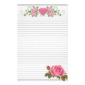"""5.5"""" x 8.5"""" lined Stationery"""