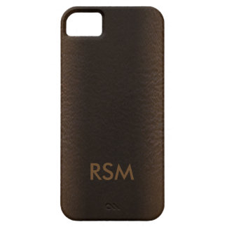 5/5s faux leather-look monogram iPhone 5 cases