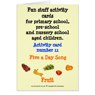 5 a Day - Fruit Card