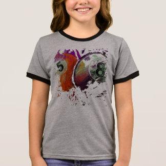 5 and 8 Billiard Balls abstract Ringer T-Shirt