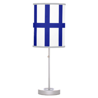 5 Bisected Blue Lines Table Lamps