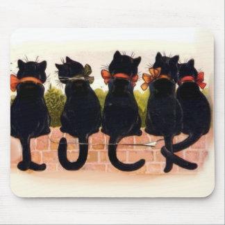 5 Black Cats Vintage Mouse Pad
