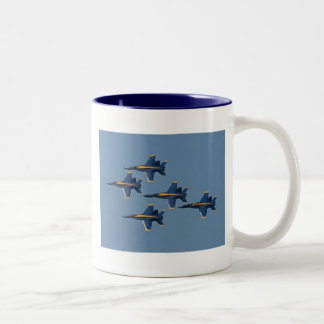 5 blue angels Two-Tone coffee mug