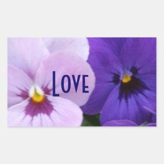 5 Blue Lavender Pansies Sticker