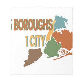 5 Boroughs City Notepads