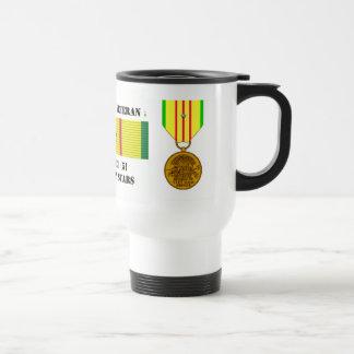 5 CAMPAIGN STARS VIETNAM WAR VETERAN COFFEE MUGS