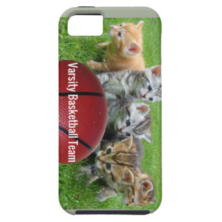 5 Cats Form a Basketball Team iPhone 5 Covers