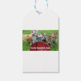 5 Cats Form a Basketball Team Pack Of Gift Tags
