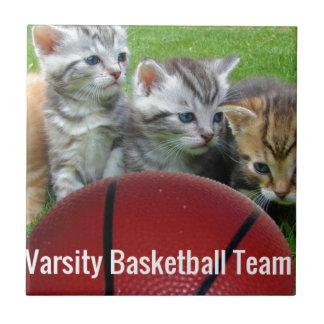 5 Cats Form a Basketball Team Tile