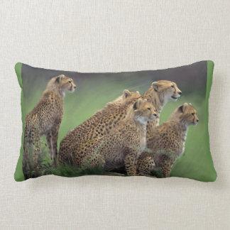 5 Cheetahs In Africa Lumbar Pillow