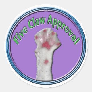 5 Claw Approval Sticker