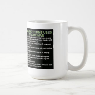 5 deadly terms used by a woman coffee mug