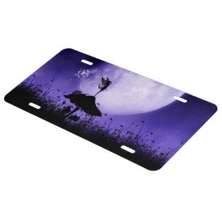 5 Fairy Silhouette 2 License Plate