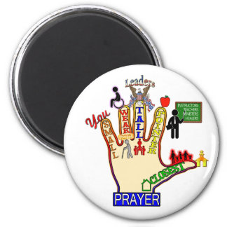 5 FIVE FINGER PRAYER AID MAGNET