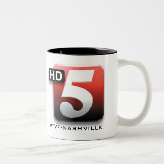 5 HD WTVF Nashville Two-Tone Coffee Mug