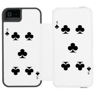 5 of Clubs Incipio Watson™ iPhone 5 Wallet Case