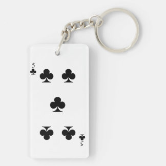 5 of Clubs Keychain