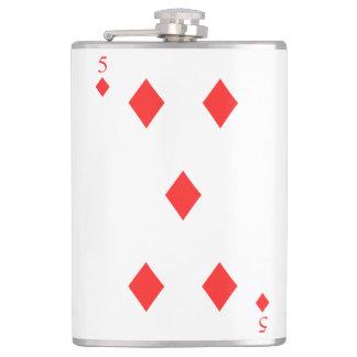 5 of Diamonds Flasks