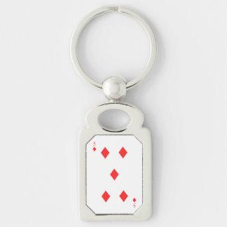 5 of Diamonds Keychain