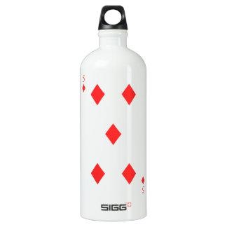 5 of Diamonds Water Bottle
