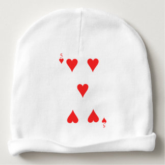 5 of Hearts Baby Beanie