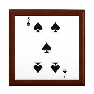 5 of Spades Keepsake Boxes