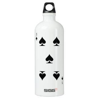 5 of Spades Water Bottle