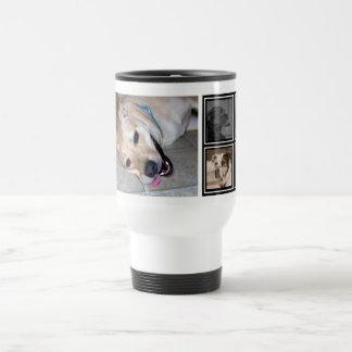 5 Photo Collage   Cute Instagram Pet Photo Travel Travel Mug