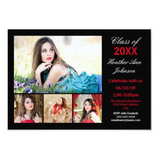 5 Photos Collage - 3x5 Graduation Announcement