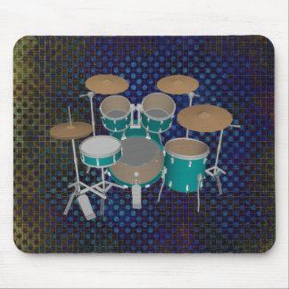 5 Piece Drum Kit - Green Finish - Mousepad