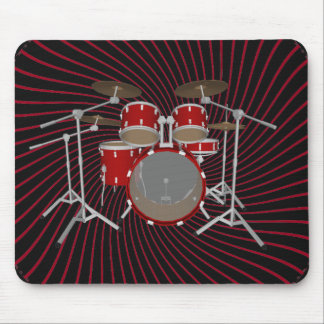 5 Piece Drum Kit: Spiral Graphics: Mousepad