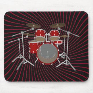 5 Piece Drum Kit: Spiral Graphics: Mousepad
