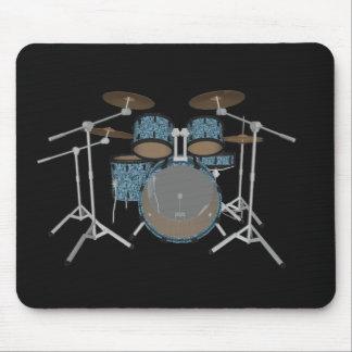 5 Piece Drum Set - Custom Green Drums - Mousepad