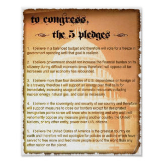 5 Pledges Glenn Beck Poster