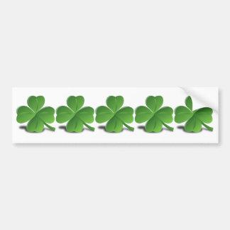 5 shamrocks irlandais dans un simple simple de l'I Autocollant De Voiture