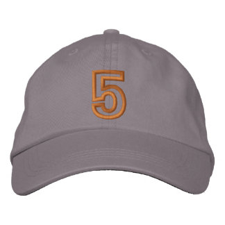 """5"" Small Athletic Number Embroidered Baseball Cap"
