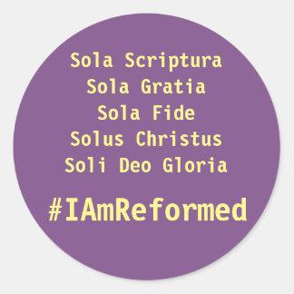 5 solas #IAmReformed sticker