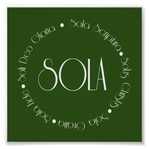 5 Solas Posters