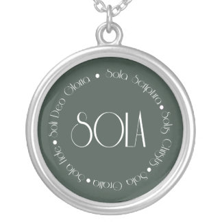 5 Solas Silver Plated Necklace
