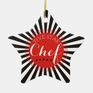 5 star chef culinary Christmas tree ornament