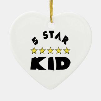 5 Star Kid Ceramic Ornament