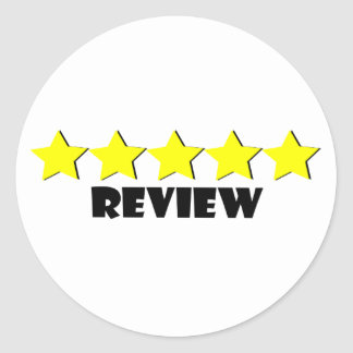 5 Star Review Stickers