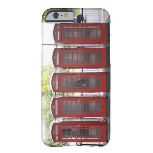 5 telephone boxes in London iPhone 6 Case