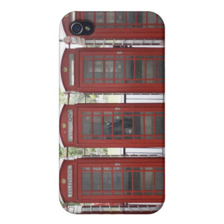 5 telephone boxes in London Case For The iPhone 4