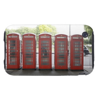 5 telephone boxes in London Tough iPhone 3 Case