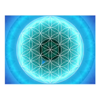 5 throat chakra lightblue created by Tutti Postcard