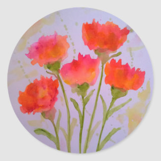 5 Vivid Watercolor Flowers Stickers by  Julie