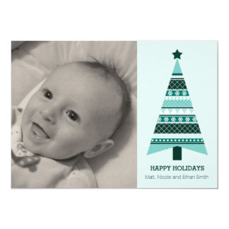 5 x 7 Fair Isle Christmas Holiday Photo Card