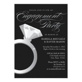 5 x 7 invitation de partie de fiançailles de la ba